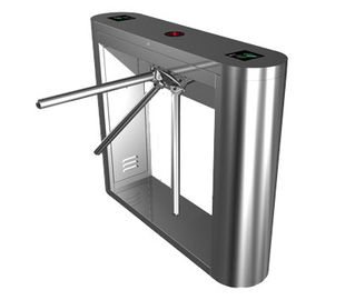 Cina Digital Card Magnetic Stainless Steel Tripod Turnstile Gate, Subway Entrance Barrier pabrik