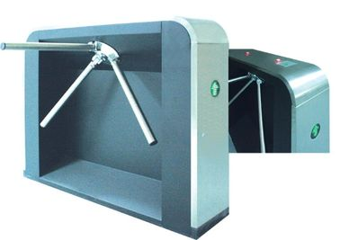 Cina RS485 Lalu Lintas Magnetic Prompt One Way Tripod Turnstile Gate, drop Arm Barrier pabrik